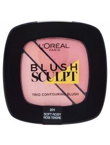 L'Oreal Blush Sculpt Trio Contouring Blush -201 Soft Rosy